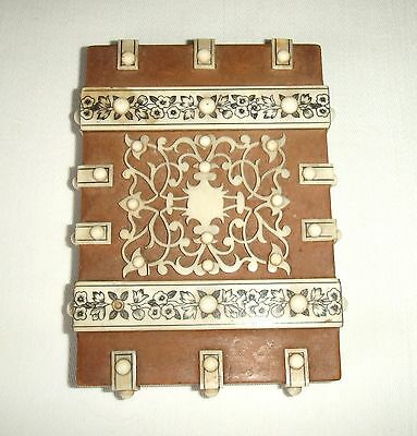 Decorative Antique Wooden Card Case