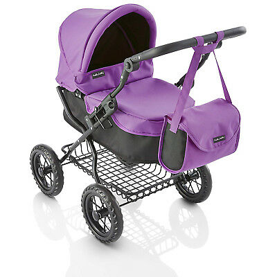 Molly Dolly Deluxe Ranger Girls Junior Dolls Toy Pram Buggy & Bag Purple & Black