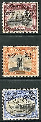 Bahawalpur SGO11/3 1945 Set of 3 with Opt Type O8 Fine Used