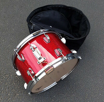"""Ludwig 12"""" Red Glitter Wrap Snare Drum w/Bag USED! RKLWS260617"""