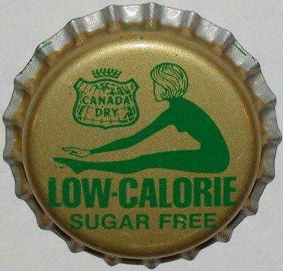 Vintage soda pop bottle cap CANADA DRY LOW CALORIE woman pictured new old stock