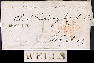 Norfolk PH 1797 Fine WELLS used locally but Redirected Try Somerset