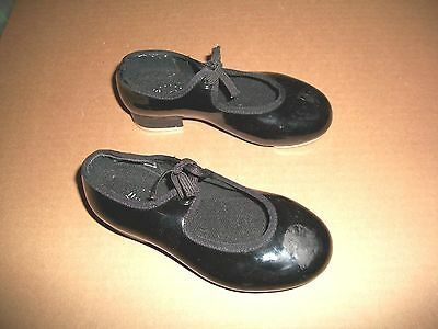 Bloch Girls Size 9 M Black Patent Mary Jane Tap Shoes Pre-Owned