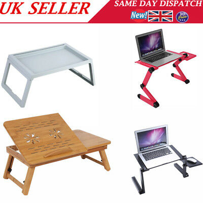 Folding Laptop Desk Adjustable Computer Table Stand Tray Bed Sofa Leisure Table