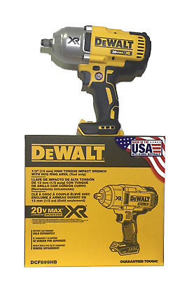 "DeWalt 20V XR Cordless 1/2"" Brushless Hog Ring Impact Wrench USA Made DCF899HB"