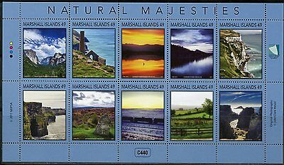 Marshall Islands 2017 Natural Majesties Sheet Of Ten Mint Nh