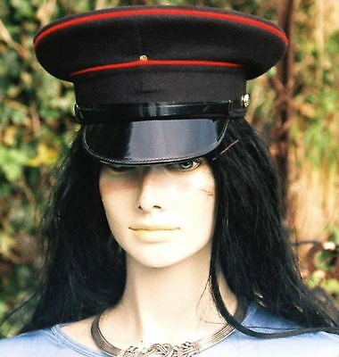 54 S PEAKED CAP/HAT RE ARMY Military ENGINEERS Visor festivals fancy dress goth