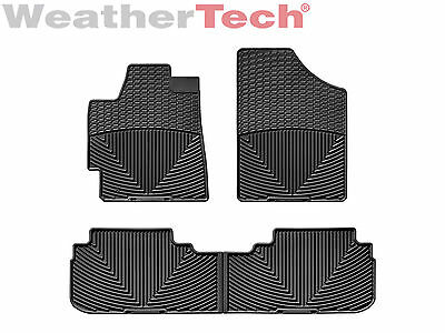 WeatherTech All-Weather Mats for Toyota Highlander 2008-2013 - 1st/2nd Row Black