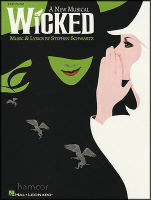 Wicked A New Musical Easy Piano Sheet Music Book Stephen Schwartz