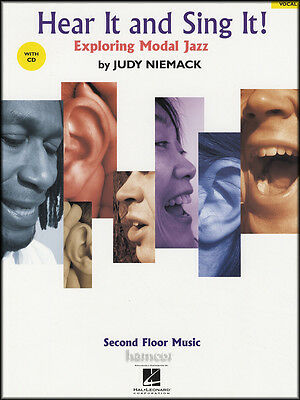 Hear It and Sing It Exploring Modal Jazz Vocal Music Book/CD Judy Niemack