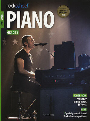 Rockschool Piano Grade 2 Exam Sheet Music Book/Audio Coldplay Bruno Mars Beyonce