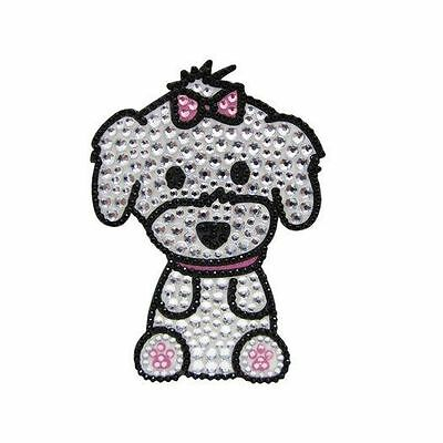 Maltese Dog Rhinestone Glitter Jewel Phone Ipod Iphone Sticker Decal