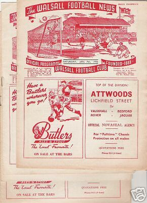 WALSALL v OLDHAM ATHLETIC  League 1958/9