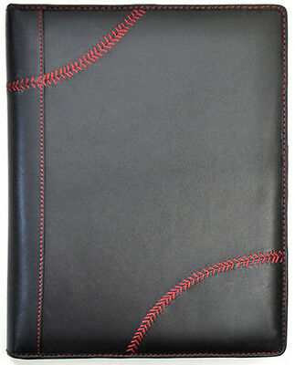 Rawlings Leather Goods Baseball Stitch Pad Folio / Tablet Case - Black