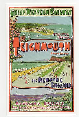 #DAL1/S37/D220 Teignmouth - Early GWR Posters Postcard