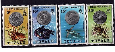 Tuvalu (214) 1976 New Coinage set Mounted mint Sg26-9