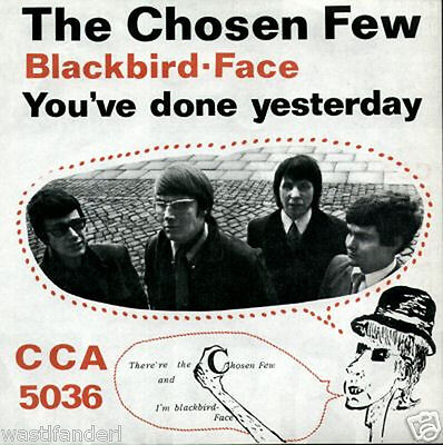 CCA 5036, The Chosen Few - Rare German Beat Single - 1967 - MINT
