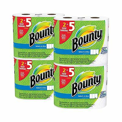 Bounty Select-a-Size Paper Towels White Huge Roll 8 Count 8 Huge Rolls New