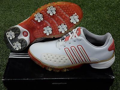 NEW Adidas Women's Powerband Golf Shoes - White Red - Ladies Size 6.5M  #737175