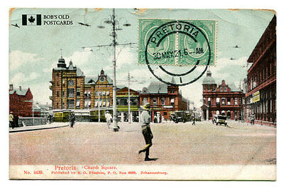 South Africa Pretoria postcard postally used 1921 -stamp on face of card