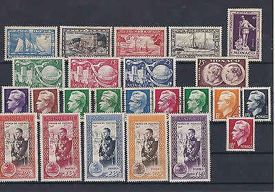 Monaco 1949-50 Mounted Mint +Used Stamps Ref: R7312