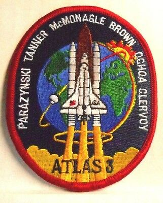 "NASA Mission STS-66 ATLAS 3 Patch Embroidered Space Shuttle Atlantis 4"" NEW"