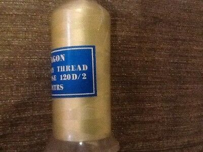 Paragon embroidery thread 1703 light lime green,5000 meter cone.100% viscose.