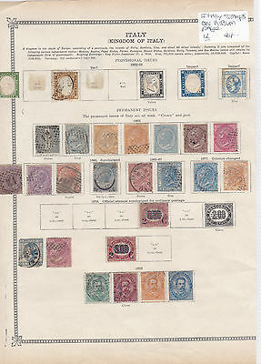 Italy Stamps On Album Page Ref: R6335