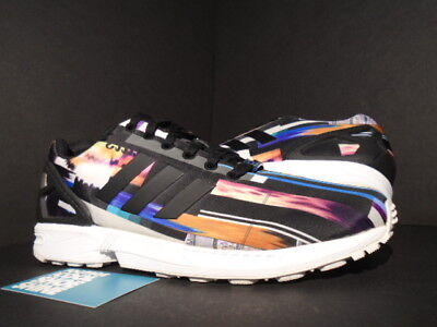 cheap for discount 0ec03 7b81c Adidas Zx Flux Photo Print Pack Cityscape Prism Boost Black True Blue White  9.5