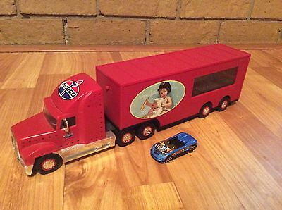 """AMOCO Racing car carrier Holidays 2000 tractor trailer needs batteries 15"""""""