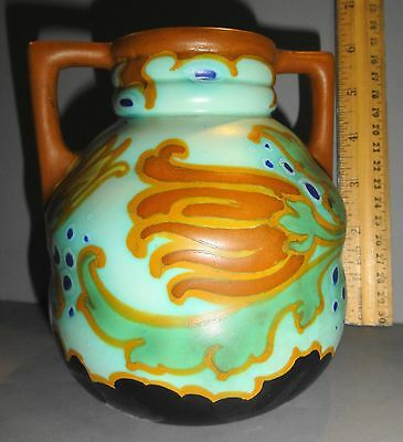 Schoonhoven Adia Pattern Gouda Pottery Vase 446 Holland Rare Vintage