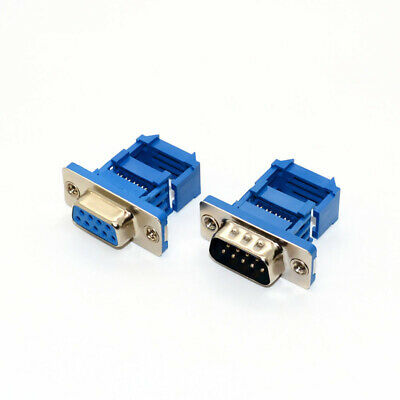KIT RS232 DB9 Male Female Plug Socket Serial Pins D-Sub IDC Flat Cable Connector