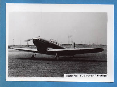 1930s USAAF Convair P-30 Fighter Photo