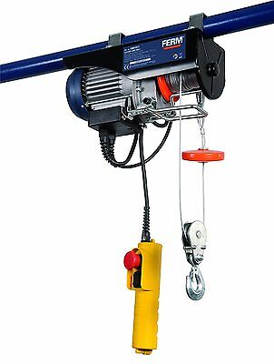 FERM LHM1011 Electric Lever Hoist - Garage Hoist - 500W - Max. lifting 250Kg - -