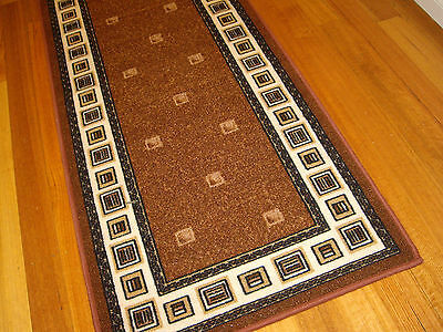Hallway Runner Hall Runner Rug Modern Brown 4 Metres Long FREE DELIVERY 37809