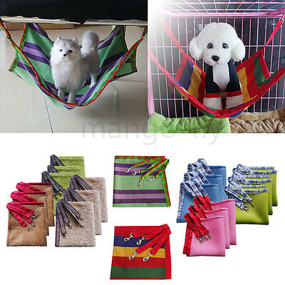 Varies Pet Cat Rabbit Cage House Hammock Soft Bed Animal Hanging Puppy Ferret