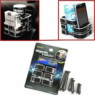 NEW Magic - Air Conditioner A/C Outlet Cup Bracket Drink Cans Tin Holder & Phone