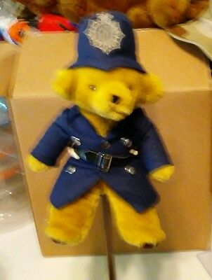 "Harrods Stuffed Plush Teddy Bear Police Bobby U.K. England 12"" Tall*"