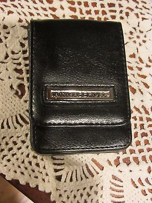 Longaberger BUSINESS CARD ~ CREDIT CARD CASE  in BLACK FAUX LEATHER New