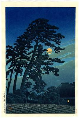 HASUI - Japanese Woodblock Print FULL MOON MAGOME 1930 MASTERPIECE