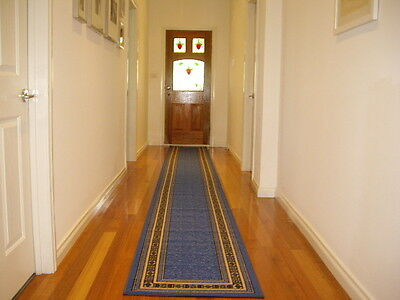 Hallway Runner Hall Runner Rug Modern Blue 4 Metres Long FREE DELIVERY 34645