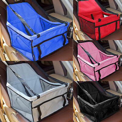 Soft Folding Pet Carrier Car Seat Belt Puppy Dog Cat Comfort Travel Bag Crate