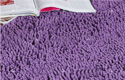 Rural Home Bedroom Living Room Purple Oval Chenille Fabric Size1.2*2M Carpet/Rug