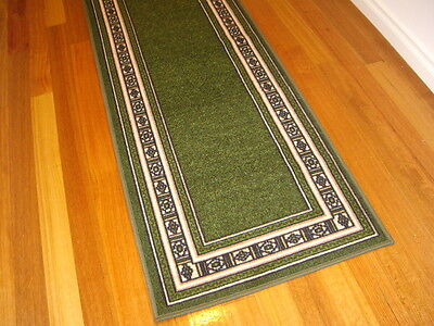 Hallway Runner Hall Runner Rug Modern Green 4 Metres Long FREE DELIVERY 76645