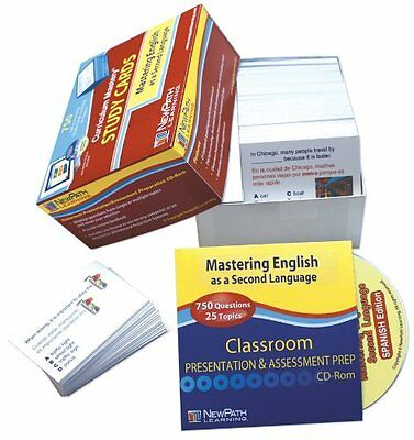 NewPath Learning Mastering English As A Second Language Spanish Study Card, 1-8
