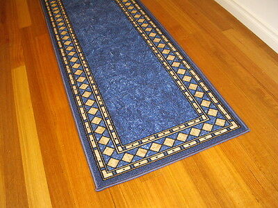 Hallway Runner Hall Runner Rug Modern Blue 6 Metres Long FREE DELIVERY 73645