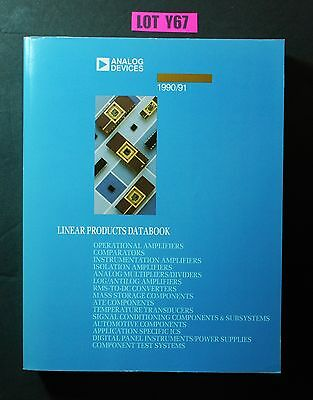 Analog Devices Linear Products Databook 1990 91  ELECTRONICS DATA BOOK LOT Y67