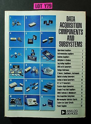 Analog Devices Data Acquisition Componets Subsystems PARTS DATABOOK 1980 LOT Y79