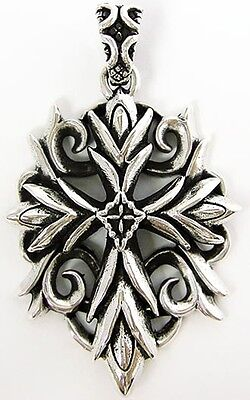Knight Templar Cross Solid Sterling 925 Silver Pendant