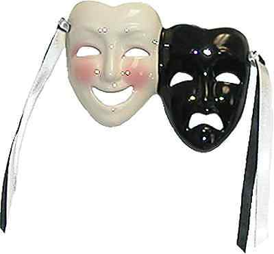 Unique Creations Mini Comedy / Tragedy  Face Mask Wall Hanging Decor
